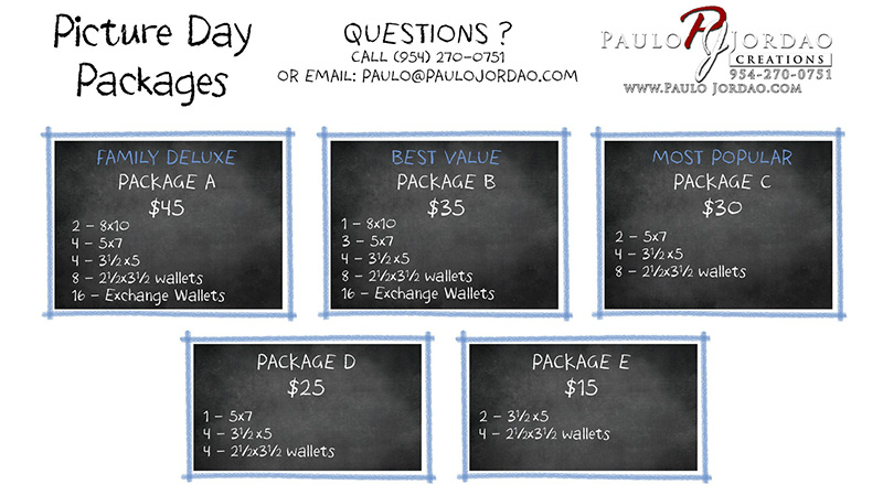 School Portrait Packages and Prices